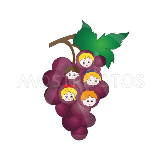 Kids on the grapes