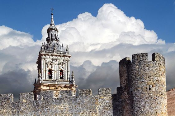 View of the famous church of Burgo de Osma in Spain