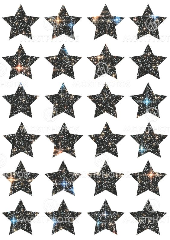 Decorative prints with stars,A4 size.