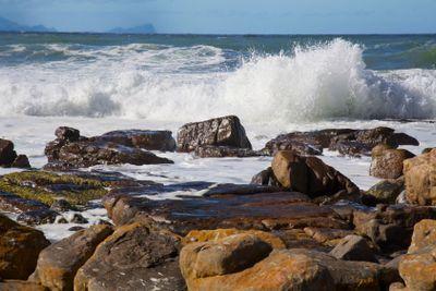 Beach Waves Crashing