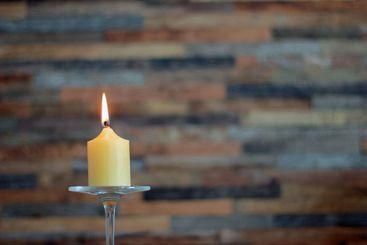 Burning candle close up