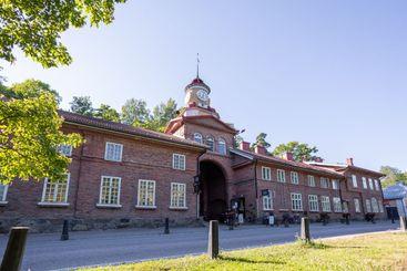 The clock tower building in Fiskars village