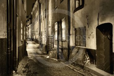 Old Town in sepia.
