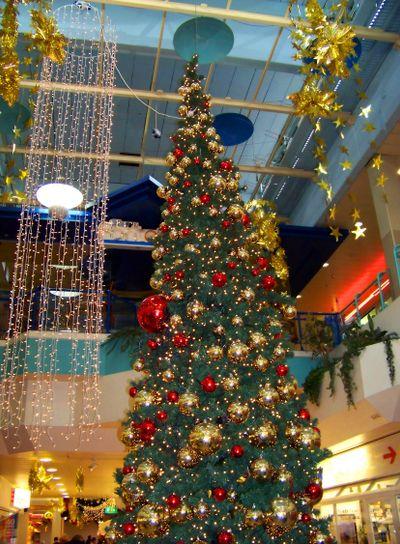 The big decorated christmas fur-tree