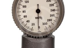 Retro metal manometer