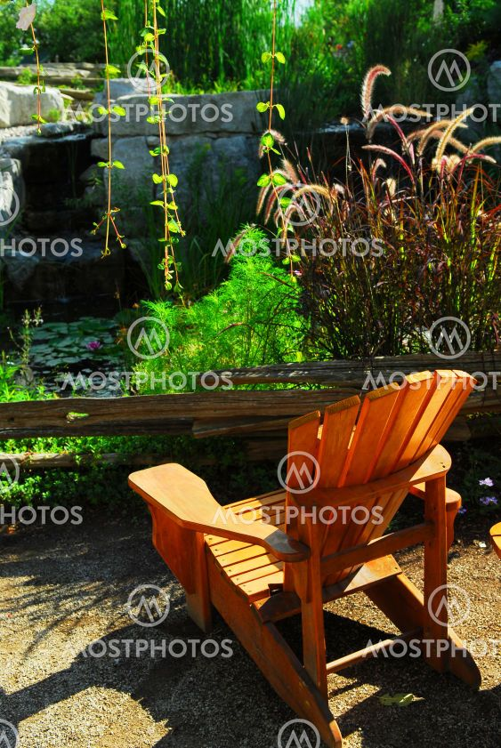 Patio and pond landscaping