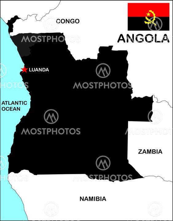 Tudor Antonel Adrian N Kuva Angolan Kartta Black Mostphotos