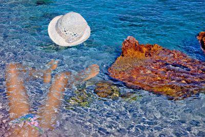 grèce; ioniennes : lefkada,  plage d'Aghios Nikitas