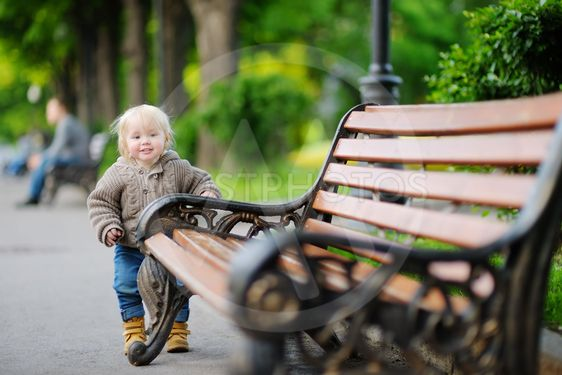 Toddler boy in the park