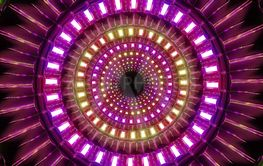 abstract round glowing colorful shapes design 3d...