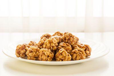 Sweet peanut balls in a plate