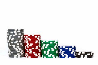 Piled poker chips