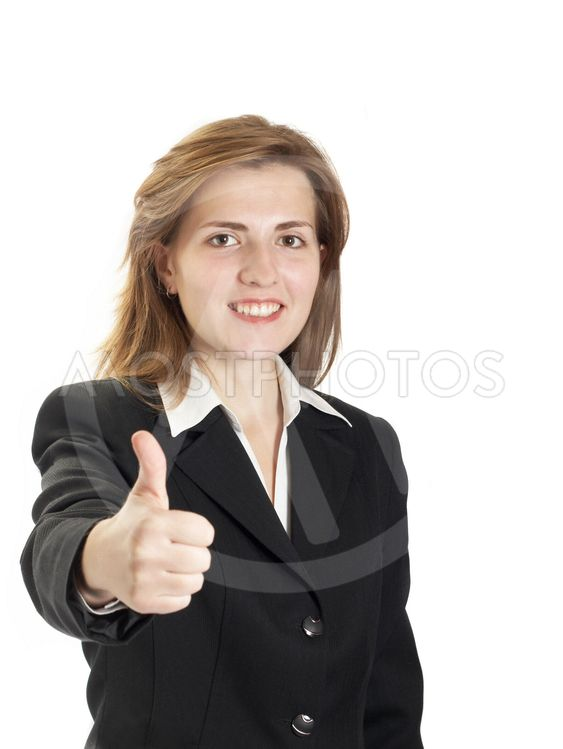Portrait of businessewoman on a white background