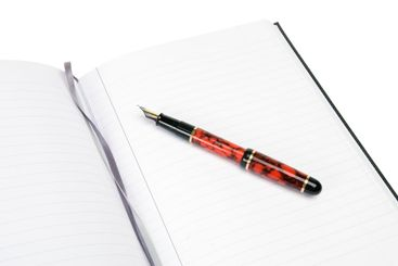 Note Pad and Fountain Pen