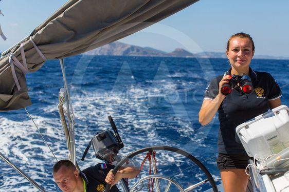 Sailors participate in sailing regatta 16th Ellada Autumn...