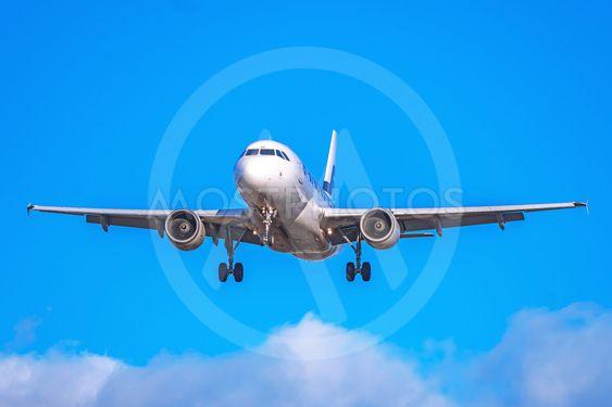 Airliner from Finnair landing at Stockholm Arlanda (ARN)...