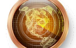 Radar Icon Vector. Realistic Surveillance Radar Screen...