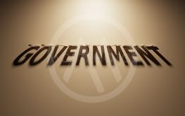 3D Rendering of a Shadow Text that reads Government