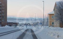 Adolf Hedinsvägen i Kiruna