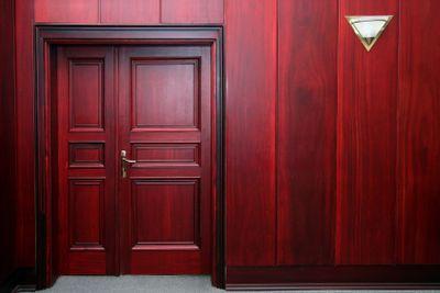 luxury mahogany interior with door