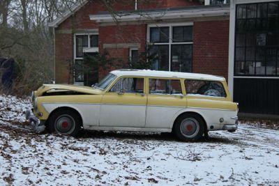 Damaged vintage car