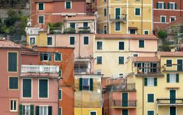 The characteristic houses of Liguria - Italy