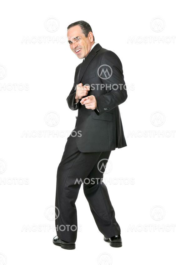 Affärsman på vit bakgrund