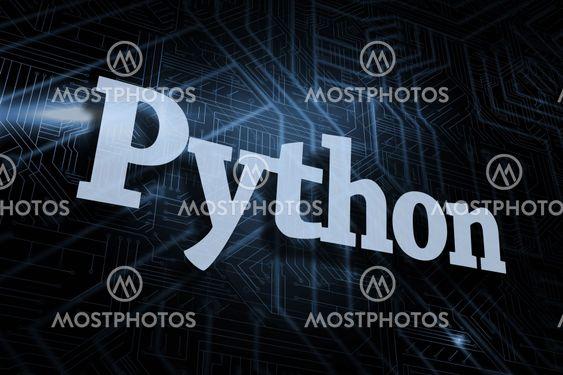 Python against futuristic black and blue background