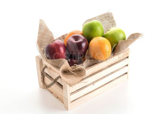 oranges, green and red apples