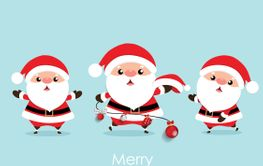 Christmas Greeting Card with Christmas Santa Claus,...