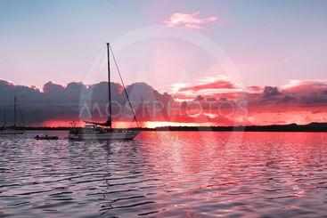 Vivid ( Color ) Cloud  ( Color )  Sky Sunrise Seascape...