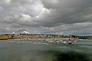 Port in Concarneau, Finestere, Brittany.