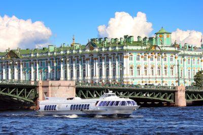 meteor - hydrofoil boat in St. Petersburg
