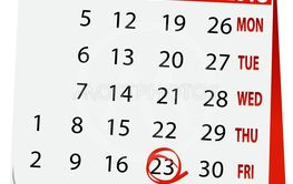 holiday calendar for 23 February 2018
