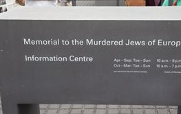 Monument över Europas mördade judar i Berlin