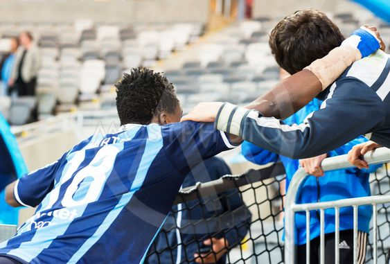 DIF fotbollsspelare, Daniel Amartey tackar ung...