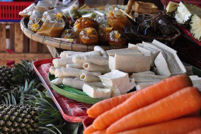 Tofu on market