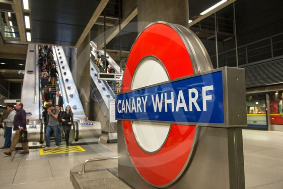 LONDON - SEP 27: The London Underground sign outside the...
