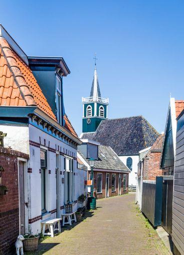 Village Oudeschild on Texel island in the Netherlands