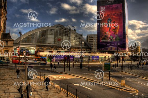 Lime Street Liverpool HDR
