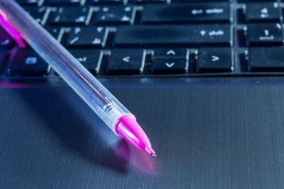 Pencil on Laptop