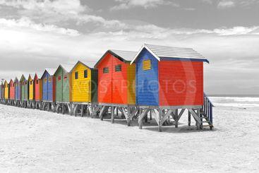 Beach Huts in Cape Town,