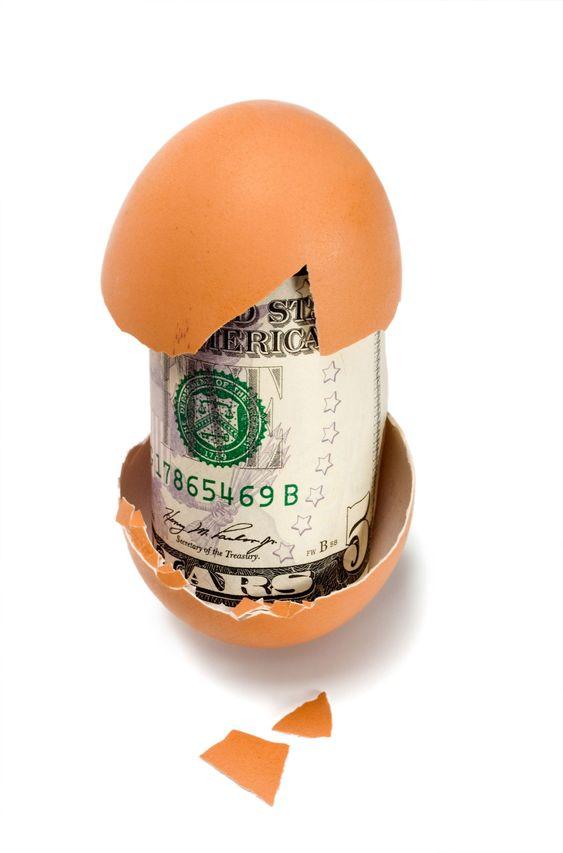 munavalmisteiden kanssa dollaria