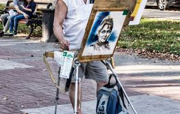 Artist at work on the streets.