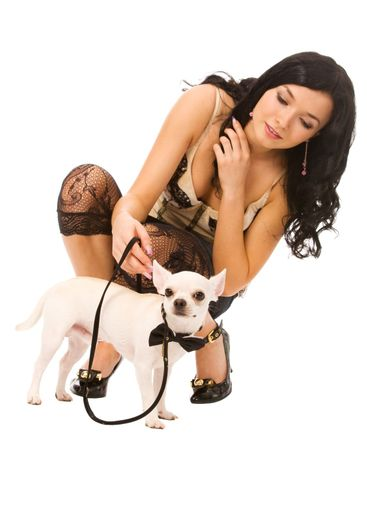 woman with doggy