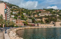 Curved Waterfront of Villefranche