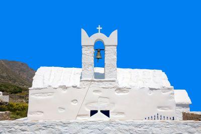 grèce,cyclades,amorgos : église aghios nikolaos