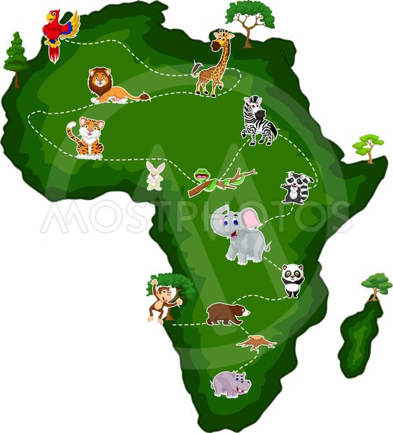 Africa Animal Cartoon For Y By Sujono Sujono Mostphotos Vector color trees set part 2 stock vector (royalty download this lovely trees in cartoon style vector illustration now. mostphotos