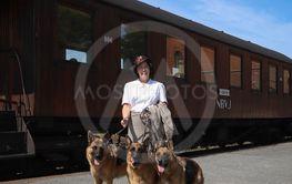 Kvinna med hundar