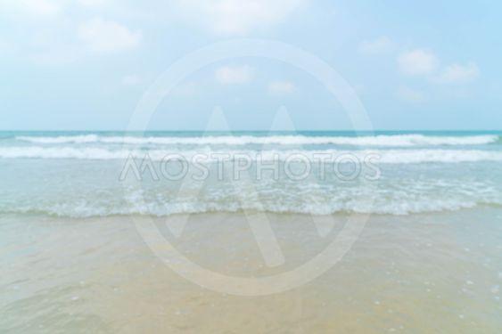 blurred beach and sea